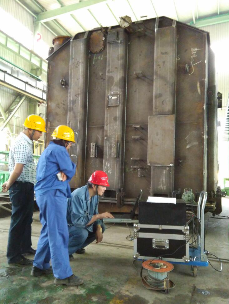 振动时效应用于大型变压器箱体