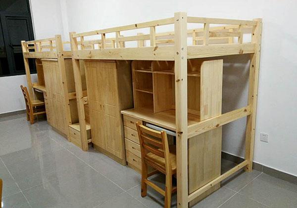 宿舍实木床案例-纽瑞特医疗科技公司