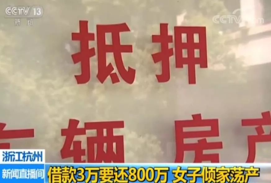 """借3万被逼还800万,杭州一女老板遇""""套路贷""""倾家荡产"""