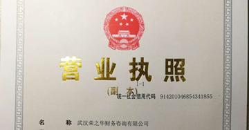 武汉注册公司—营业执照