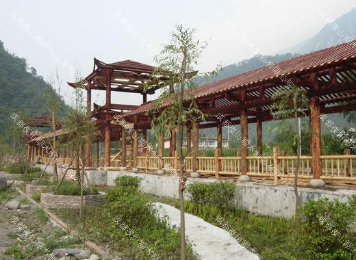 成都防腐木长廊设计