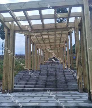 成都防腐木长廊工程