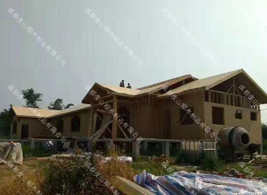 成都防腐木木屋木材构架