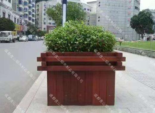 户外防腐木花箱