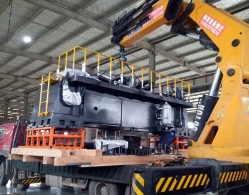 成都银隆新能源汽车大型精密设备搬运
