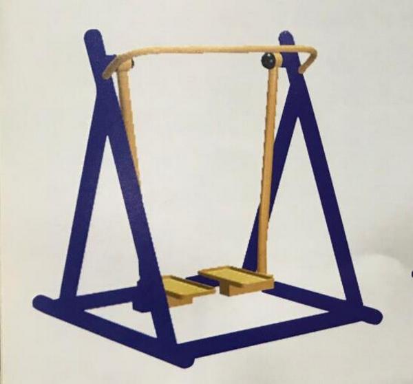 室外健身器材-单位落地漫步机