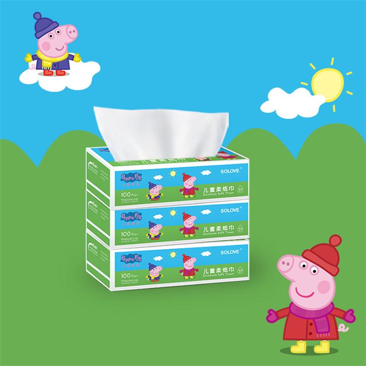 小猪佩奇柔软盒抽