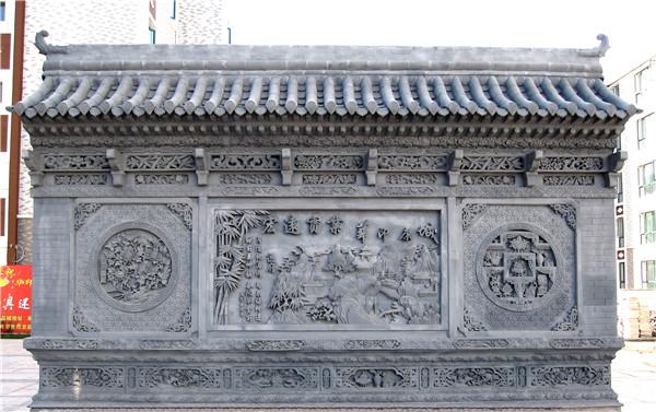宁夏吴忠华印康城住宅小区(1)西安大幅砖雕