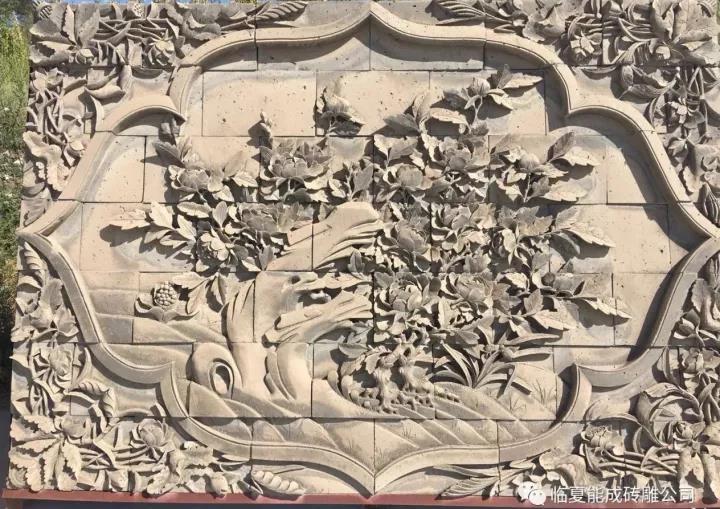 古源建筑工程公司砖雕工艺品!
