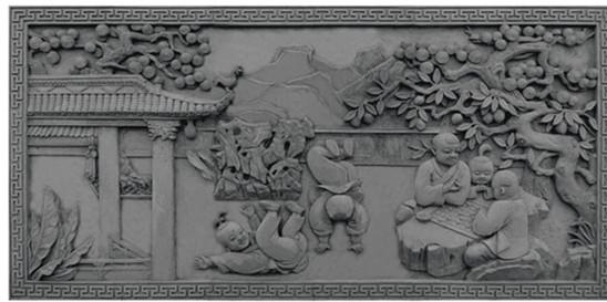 大幅砖雕设计