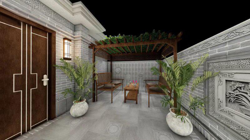 中式别墅小院