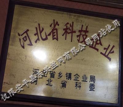 东兴公司荣获河北省科技企业