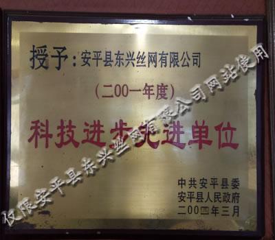东兴公司荣获年度科技进步先进单位