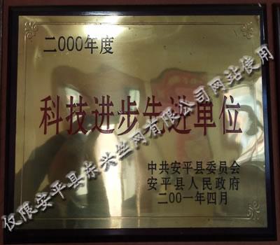 东兴公司获得科技进步先进单位