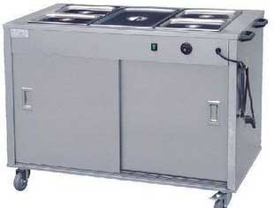 四川西餐设备-五格保温车带柜