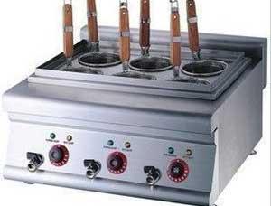 四川西餐设备-六头台式煮面炉