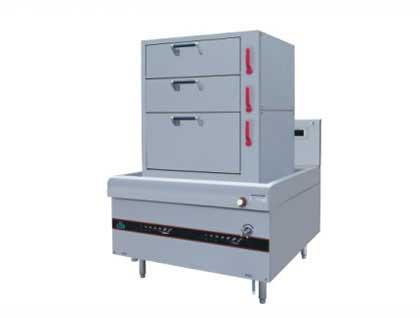 四川廚房設備-三門電磁蒸櫃
