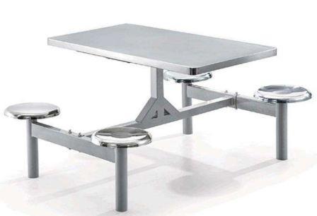 四人不锈钢餐桌