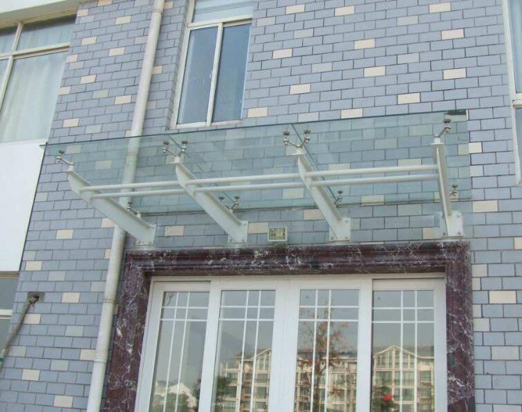 西安玻璃雨棚安装案例