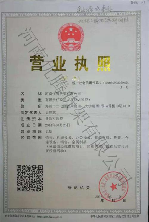 AG旗舰厅手机版货架资质证书