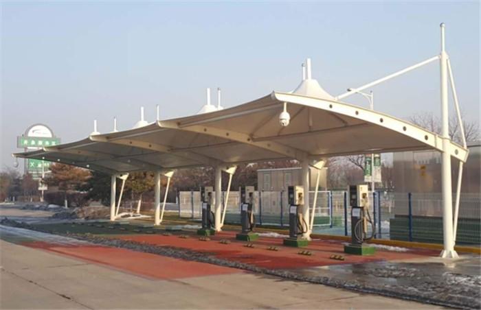 黄陵充电桩膜结构遮阳棚