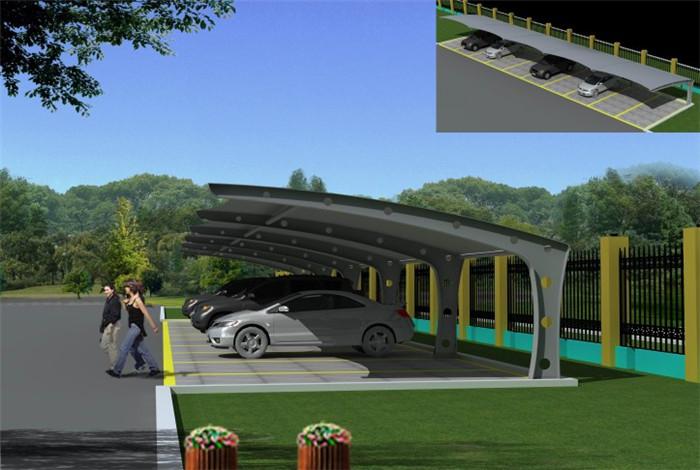 汽车工业高速发展,城市膜结构车棚造价多少?