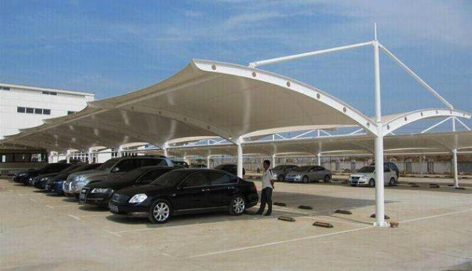 西安膜结构车棚怎么样?为什么膜结构景观车库如此受欢迎?