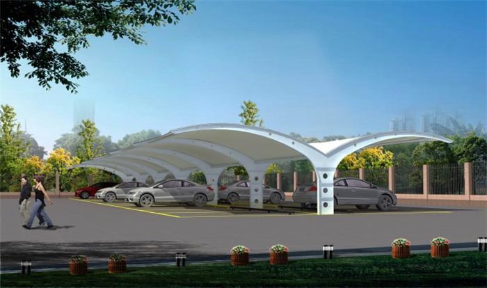 西安汽车停车棚膜结构