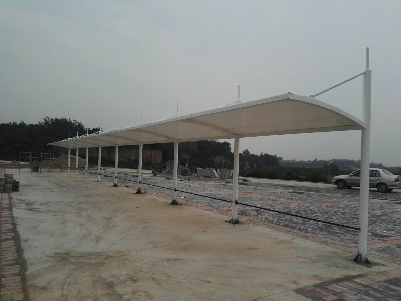 大荔同洲湖自行车赛道膜结构自行车棚