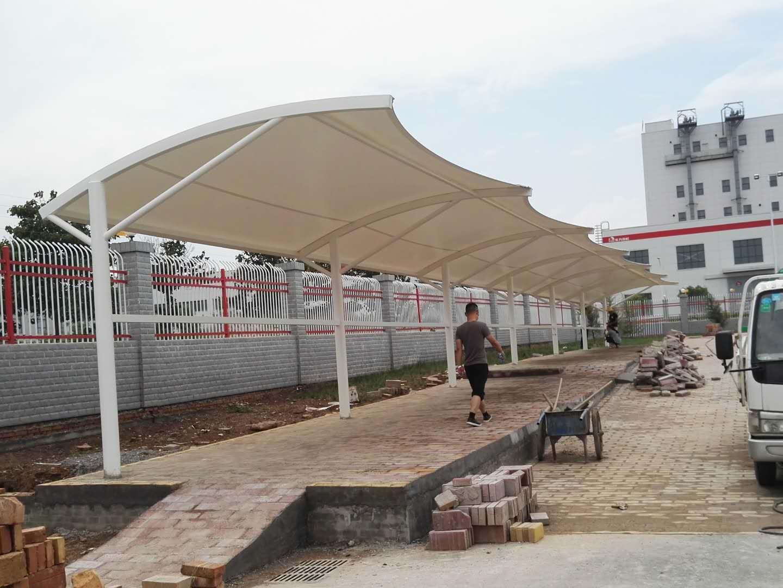 礼泉东方雨虹膜结构自行车棚