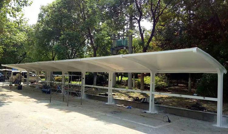 西安碑林区交警支队膜结构自行车棚