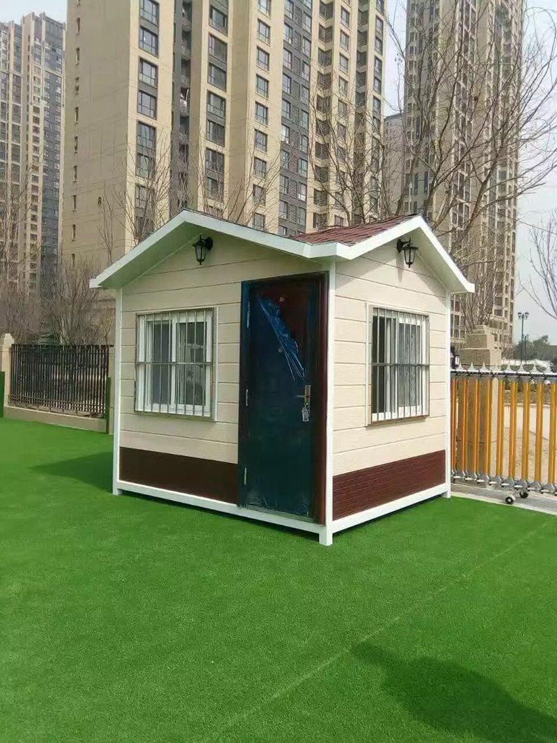 陕西岗亭——西沣国际幼儿园金属雕花板岗亭