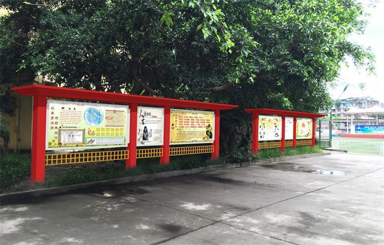 崇义路橱窗宣传栏成功案例