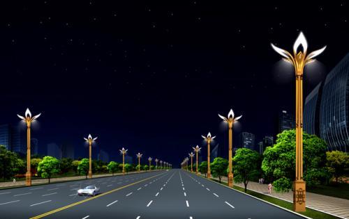 西昌组合路灯完工图片