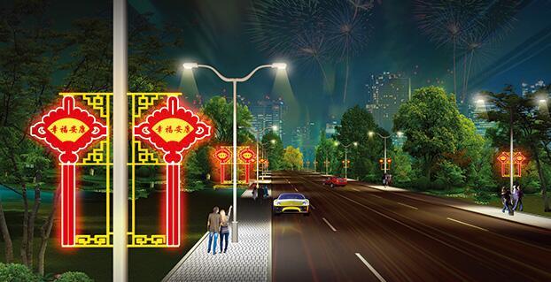 包头LED中国结路灯