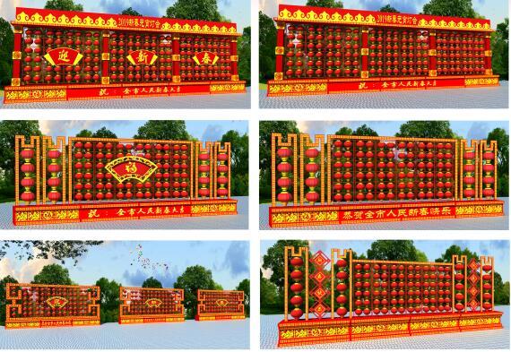 LED景观灯笼墙(可租、可售)