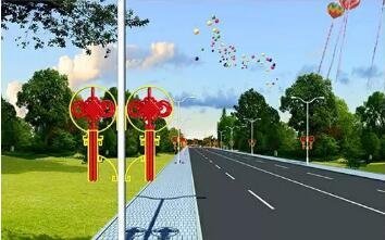 包头LED中国结路灯(可租、可售)