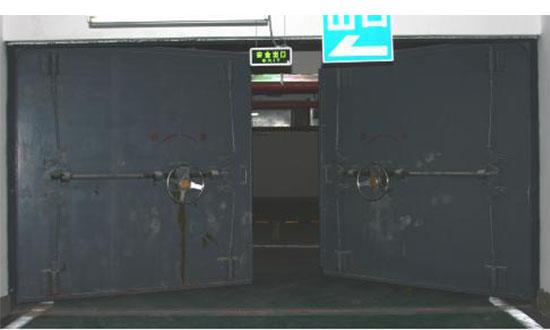 活门槛单、双扇防护密闭门和密闭门