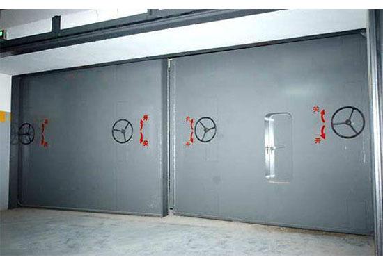 降落式双扇防护密闭门