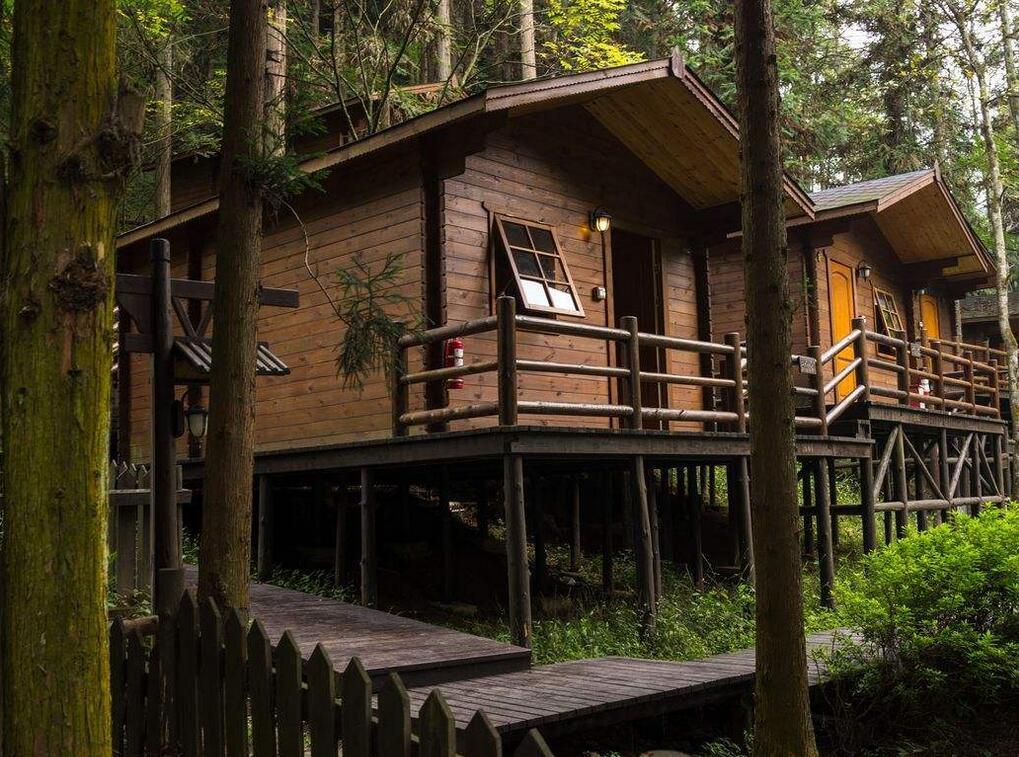 户外木屋景观