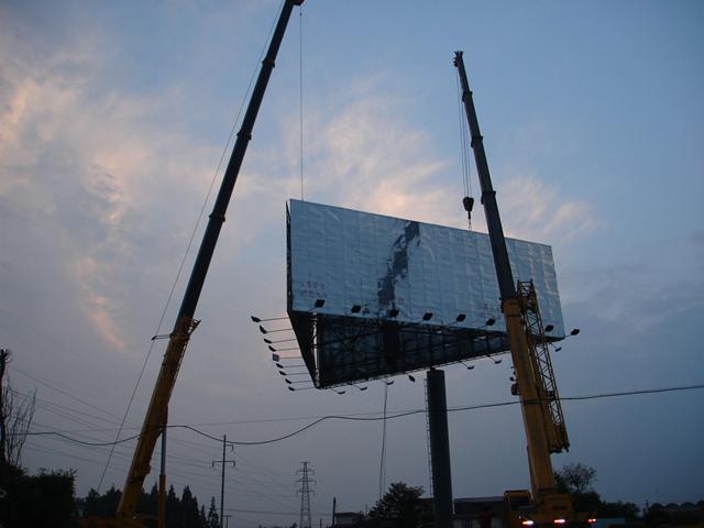 西藏單立柱廣告牌安裝