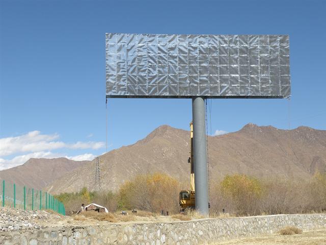 青海单立柱广告牌