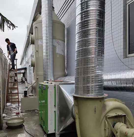 咸阳工厂废气处理施工案例