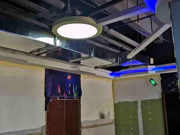河南郑州大龙金三角夜市广场施工案例