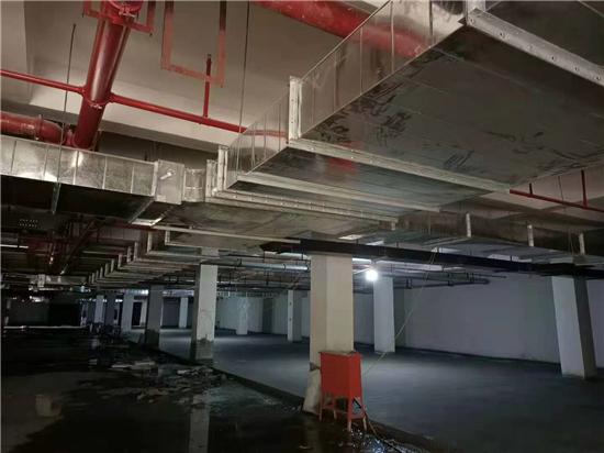 河南省周口市坤禧天安世家地下室消防排烟施工案例