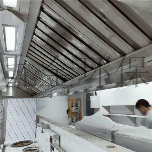 《上井日料》厨房净化烟罩一体机施工案例