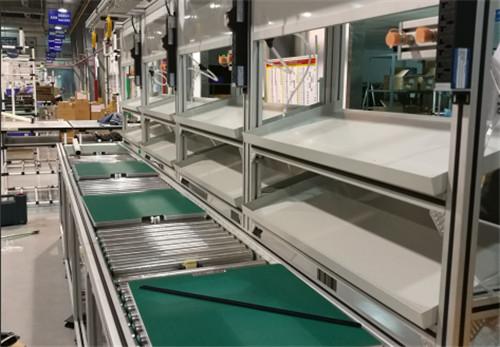 铝型材风电控制箱手动组装线