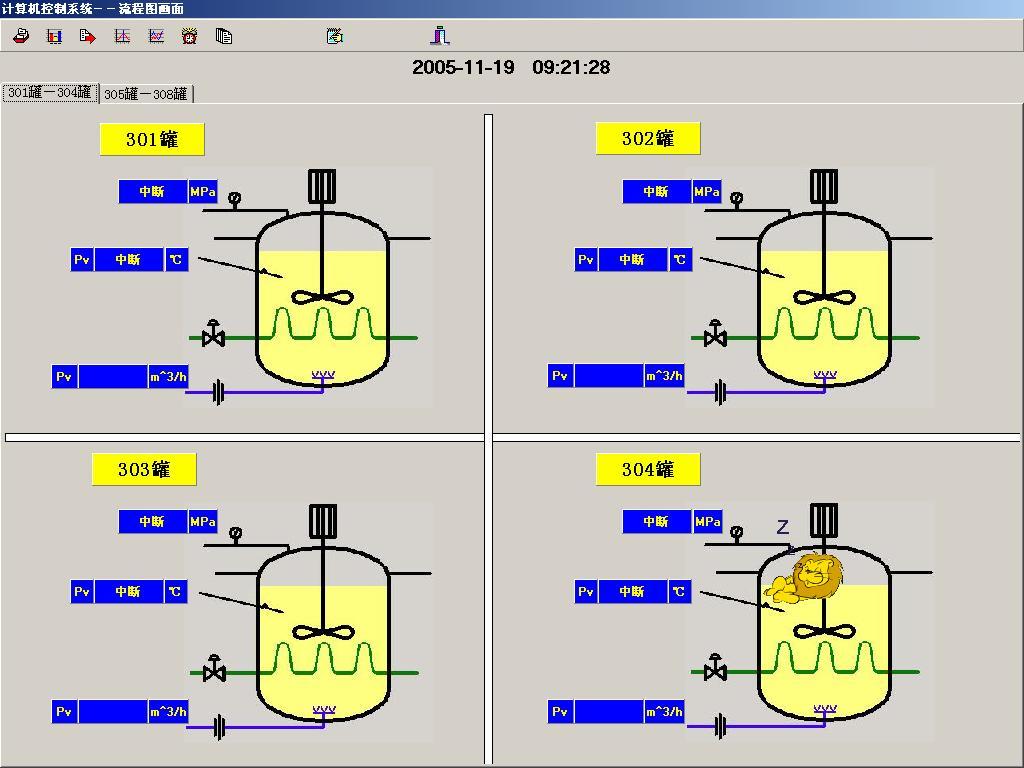 利君药业发酵工段监控系统