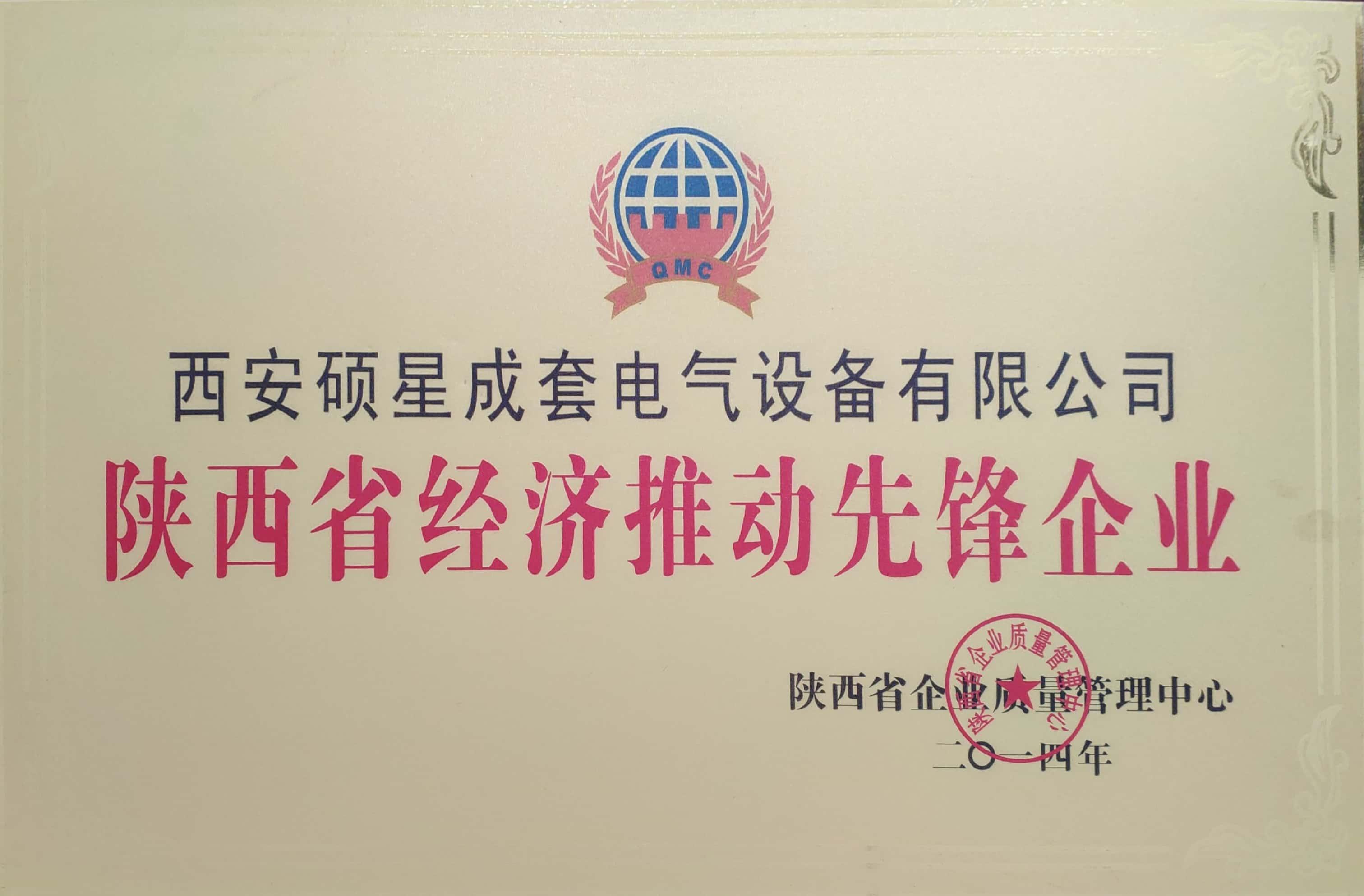 陕西省经济推动先锋企业