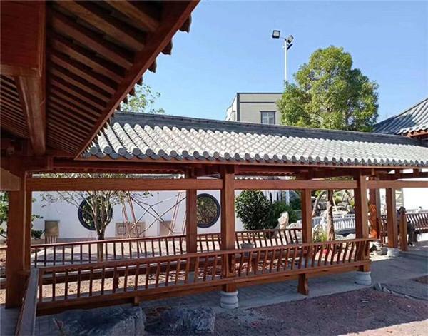 陕西防腐木木长廊多用于景观工程